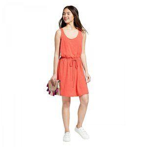 NWT A New Day Tie Waist Knit Tank Dress XL Orange